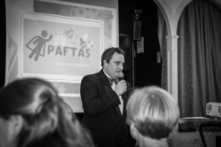 James Dearden at the 2018 PAFTAS